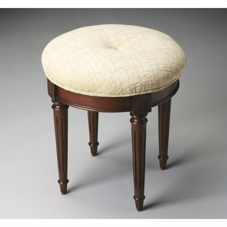 Beaumont Lane Vanity Stool in Plantation Cherry