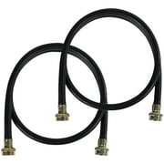 Certified Appliance Accessories 77506 Black EPDM Washing Machine Hoses, 4ft