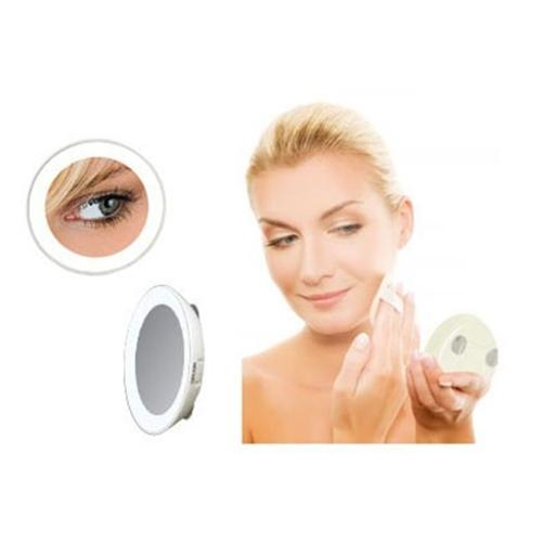 LED15X LED lighted compact travel mirror 15X magnification