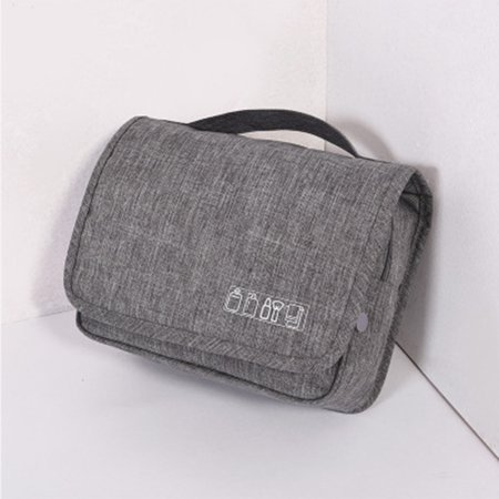 6d2071820c6e Waterproof Toiletry Bag Multifunction Cosmetic Bag Portable Makeup Pouch  Travel Hanging Organizer Bag Bathroom Wash Bag (Gray)
