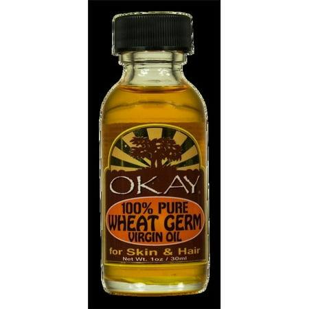 Okay 100% Pure Wheat Germ Virgin Oil For Hair and Skin, 1