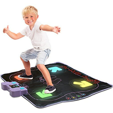 Light Up Dance Mat - Arcade Style Dance Mat with Built In Music Tracks and Bluetooth Wireless Technology](Mickey Music Mat)