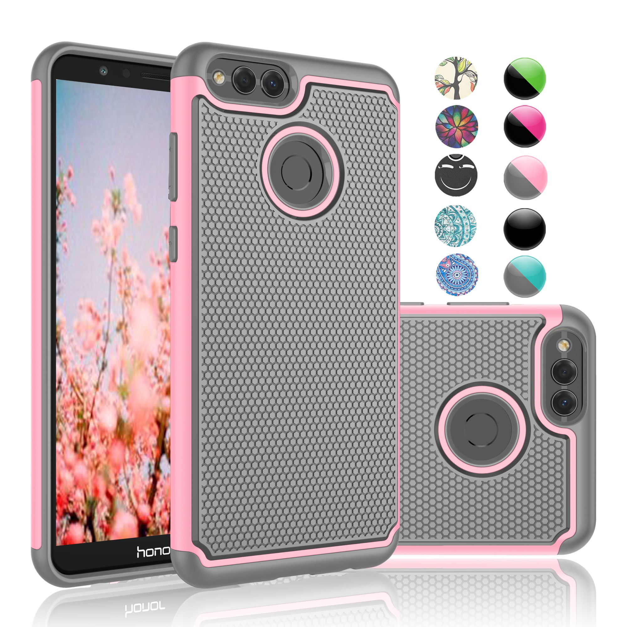 detailing ce3f8 8cf9b Buy Huawei Mate SE Case, Huawei Honor 7X Case, Njjex [Shock ...