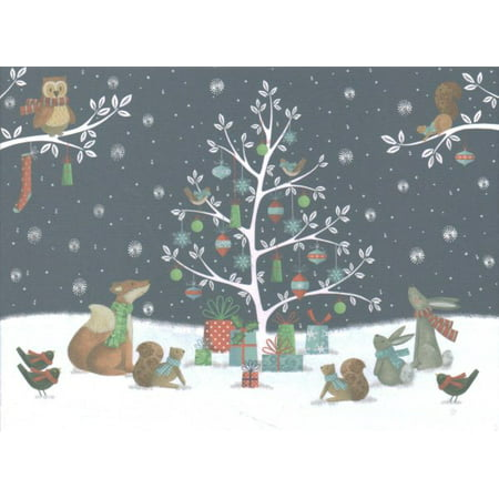 woodland noel deluxe boxed holiday cards - Boxed Holiday Cards