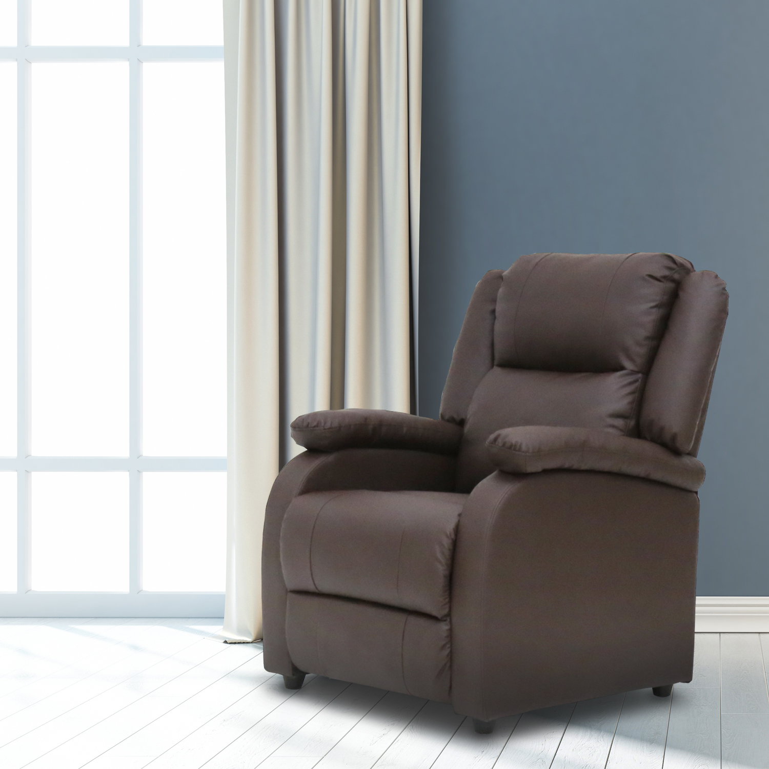 Kinbor Electric Massage Recliner Sofa Chair Heated Ergonomic Couch  W/Control Brown