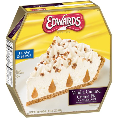 Edwards Vanilla Caramel Creme Pie 31.9 oz. Box