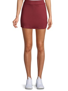 Women's Active Performance Skort with Side Zipper and Bike Shorts