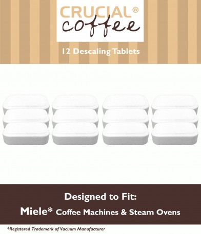 12 Miele Coffee Machines & Steam Ovens Descaling Tablets, Part # 05626050 by Crucial Vacuum