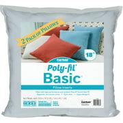 "Fairfield Poly-Fil Basic Pillow Insert 2/Pkg-18""X18"" Fob: Mi"