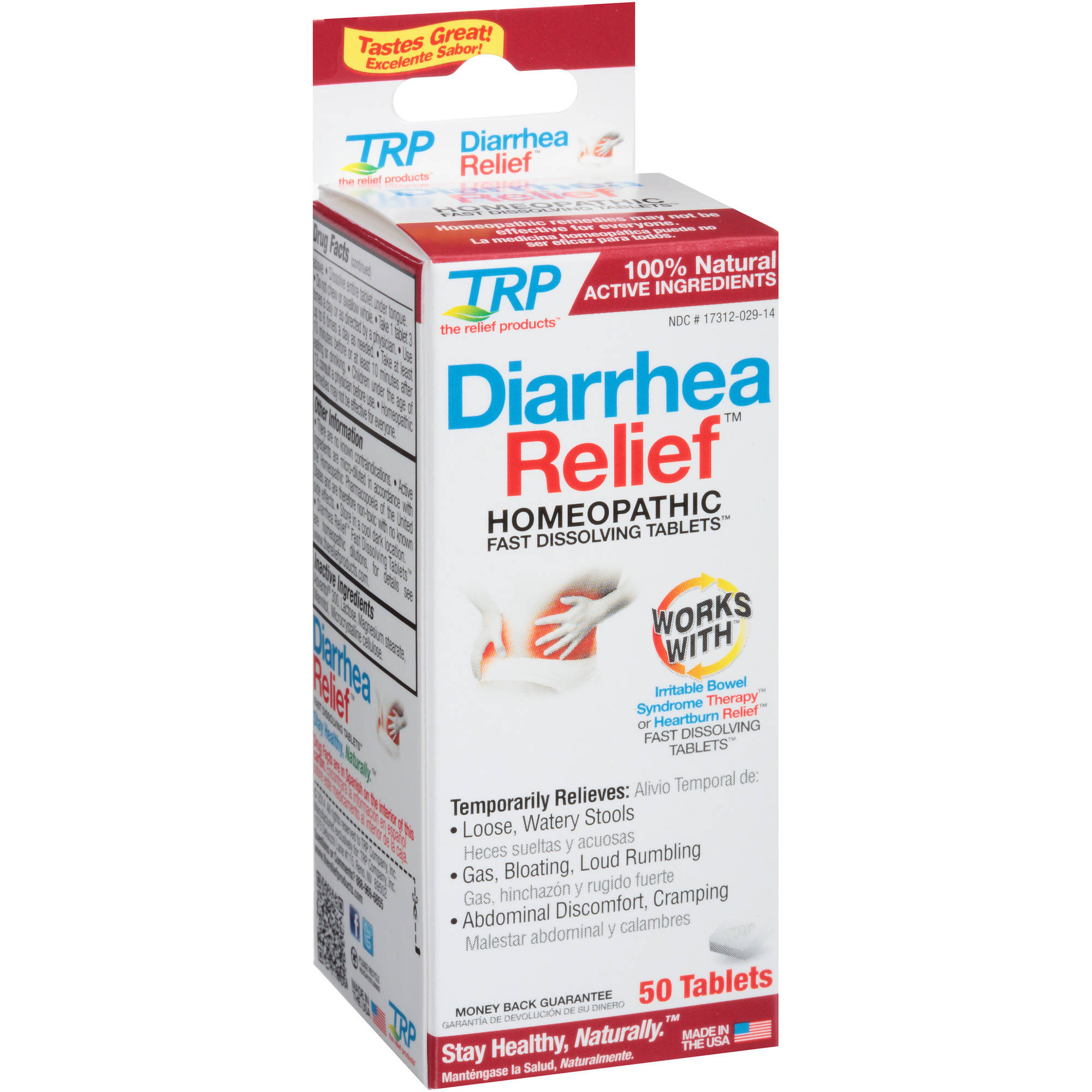 TRP Diarrhea Relief Homeopathic Fast Dissolving Tablets, 50 count