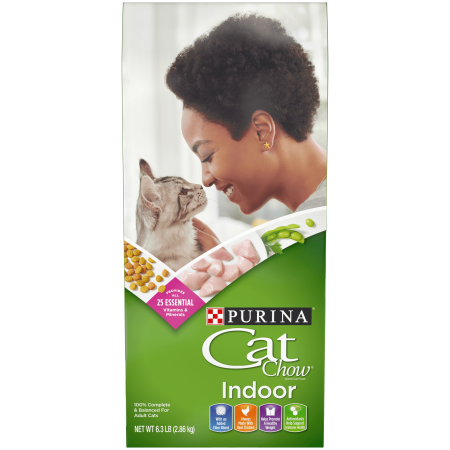 6.3-lb Purina Cat Chow Hairball, Healthy Weight, Indoor Dry Cat Food, (Cat Food For Cats With Kidney Disease)