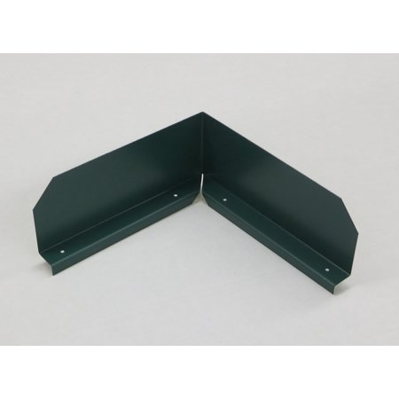 Bent (Inside Corner) Gutter Valley Splash Guards - 3 ct Grecian Green Aluminum Corner Guards