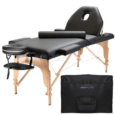 Saloniture professional portable massage table with backrest multiple colors available - Portable massage table walmart ...