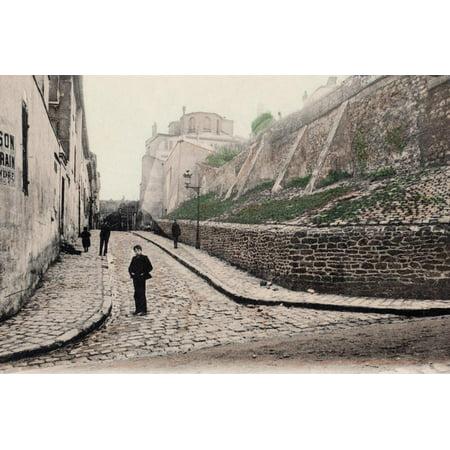 Rue Cortot, Old Montmartre, Paris, 1900 Print Wall