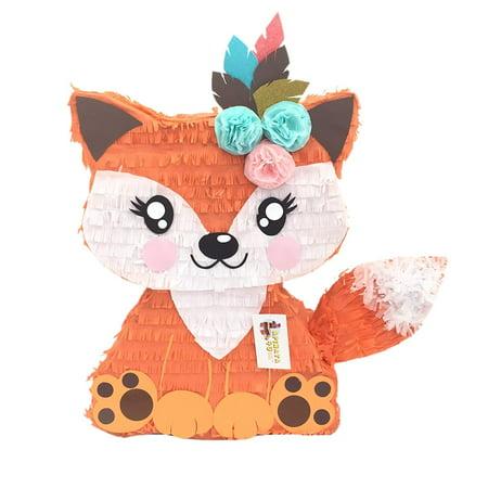 APINATA4U Girly Fox Pinata with Flowers & Feathers - Buy A Pinata