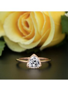 52509872ef9502 Product Image 1.25 Carat Real Moissanite and Diamond Engagement Ring in 18k  Gold Over Silver. JeenMata