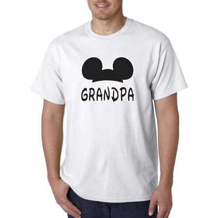 New Way 556 - Unisex T-Shirt Grandpa Fan Mickey Mouse Ears