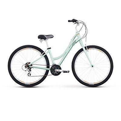 raleigh bikes women's circa 2 step thru comfort bike, 13/x-small, green
