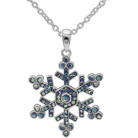 Crystal Silver-Plate Snowflake Pendant, 18