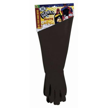 Adult Hero Black Gauntlet Gloves](Gauntlet Gloves)