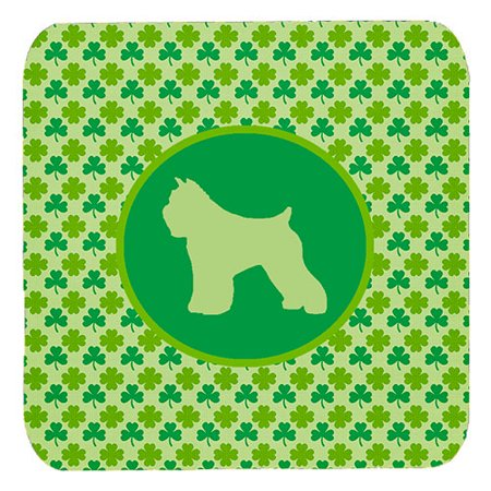 1120 Foam - Set of 4 Bouvier des Flandres Lucky Shamrock Foam Coasters