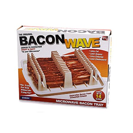 Bacon Wave Kitchen Microwave Cooking Tray Rack Grease