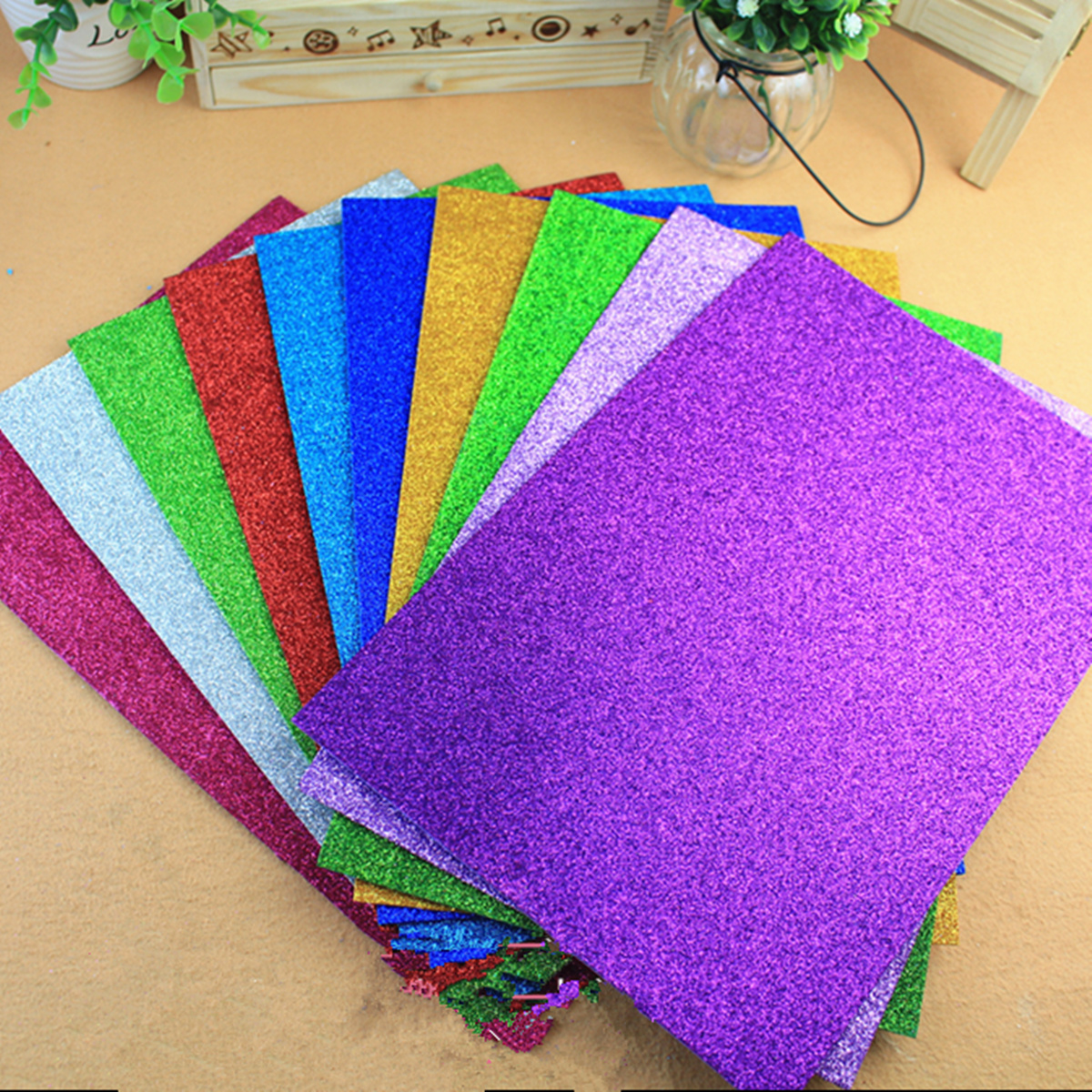 10pcs Kids A4 Hand Craft Multicolor Foam paper DIY Handmade  EVA Foam Paper Paper Sponge