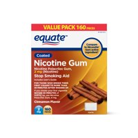 Equate Nicotine Gum, Cinnamon Flavor, 2 mg, 160 Count