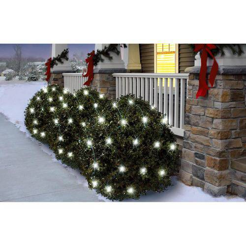 Holiday Time Random Twinkle LED Net Christmas Lights Cool White, 150 Count