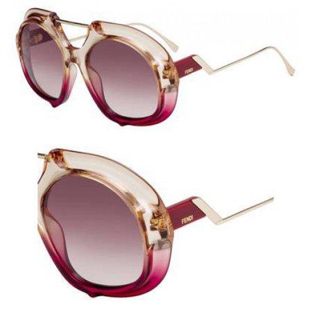 Fendi Women's Thick Aviator Sunglasses
