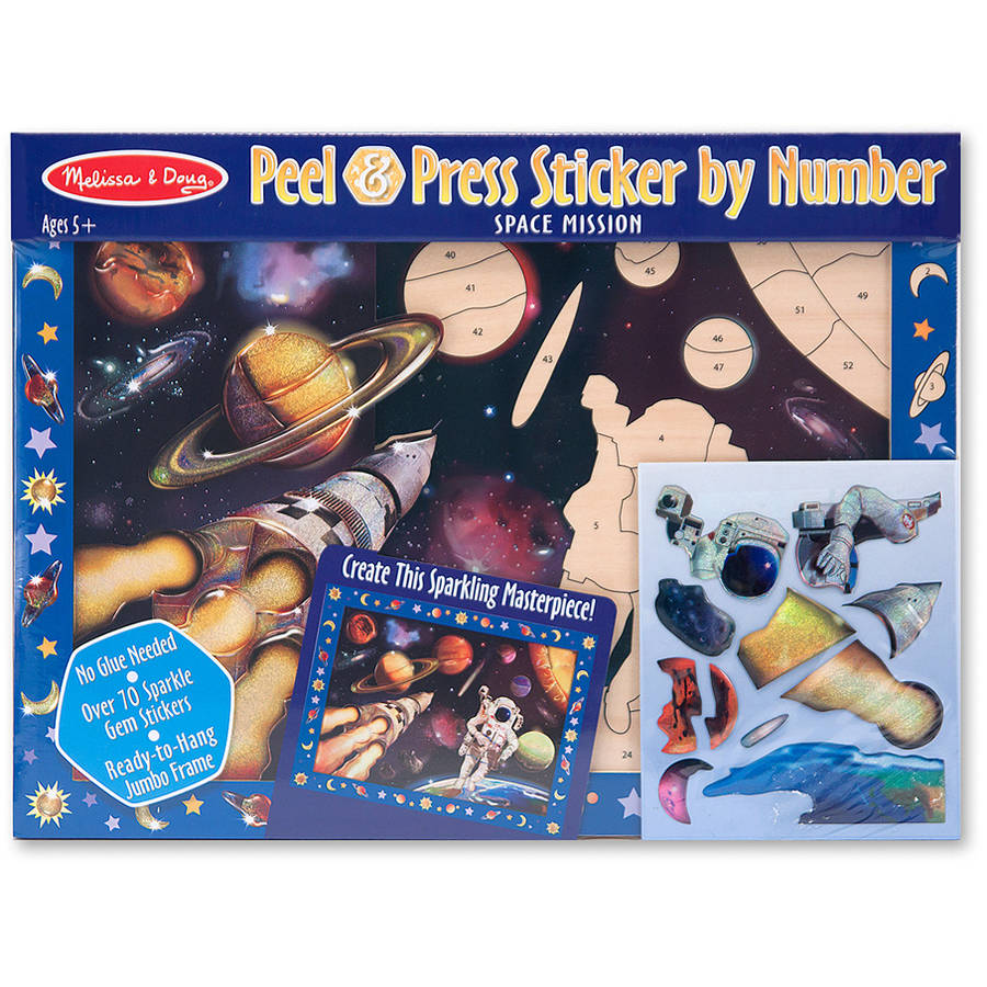 Melissa & Doug Peel & Press Sticker by Number, Space Mission