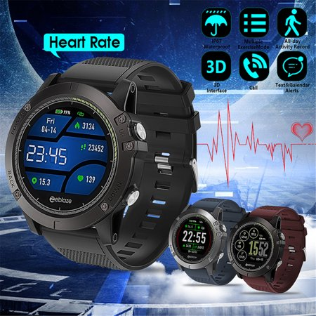Zeblaze Waterproof Smart Watch Vibe 3 Hr Rugged Inside Out Hr Monitor 3d Ui All Day Activity Record 1 22 Ips Smart Watch
