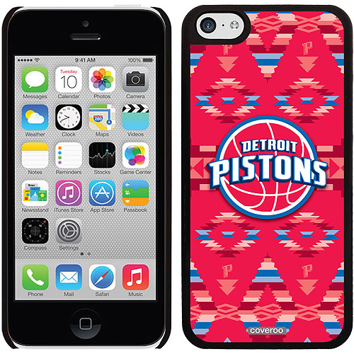 Detroit Pistons Tribal Print Design on Apple iPhone 5c Thinshield Snap-On Case by Coveroo