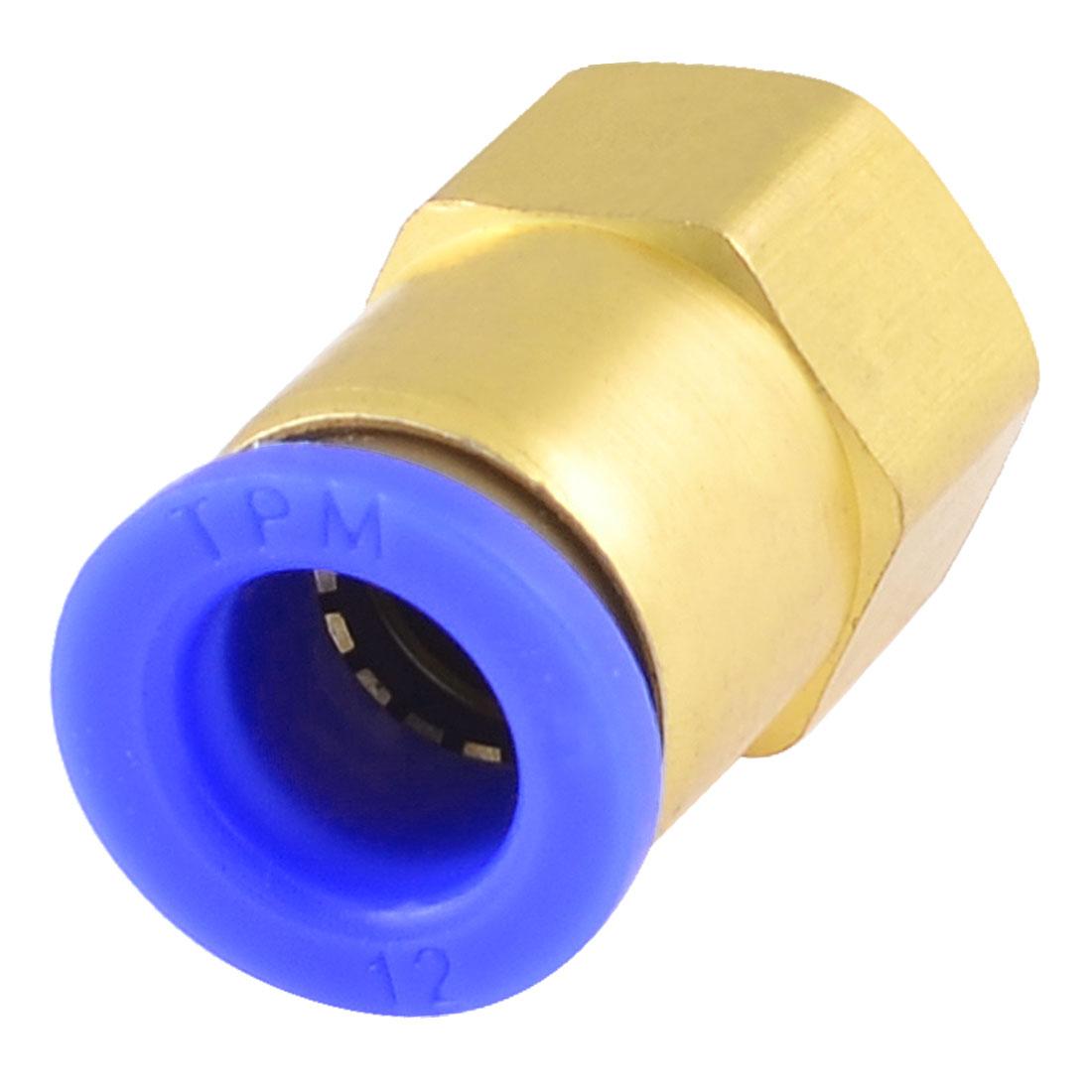 "Unique Bargains Unique Bargains Industry 1/4"" PT Female Thread Quick Coupler Connector for 12mm Inner Dia Tube - image 1 of 1"
