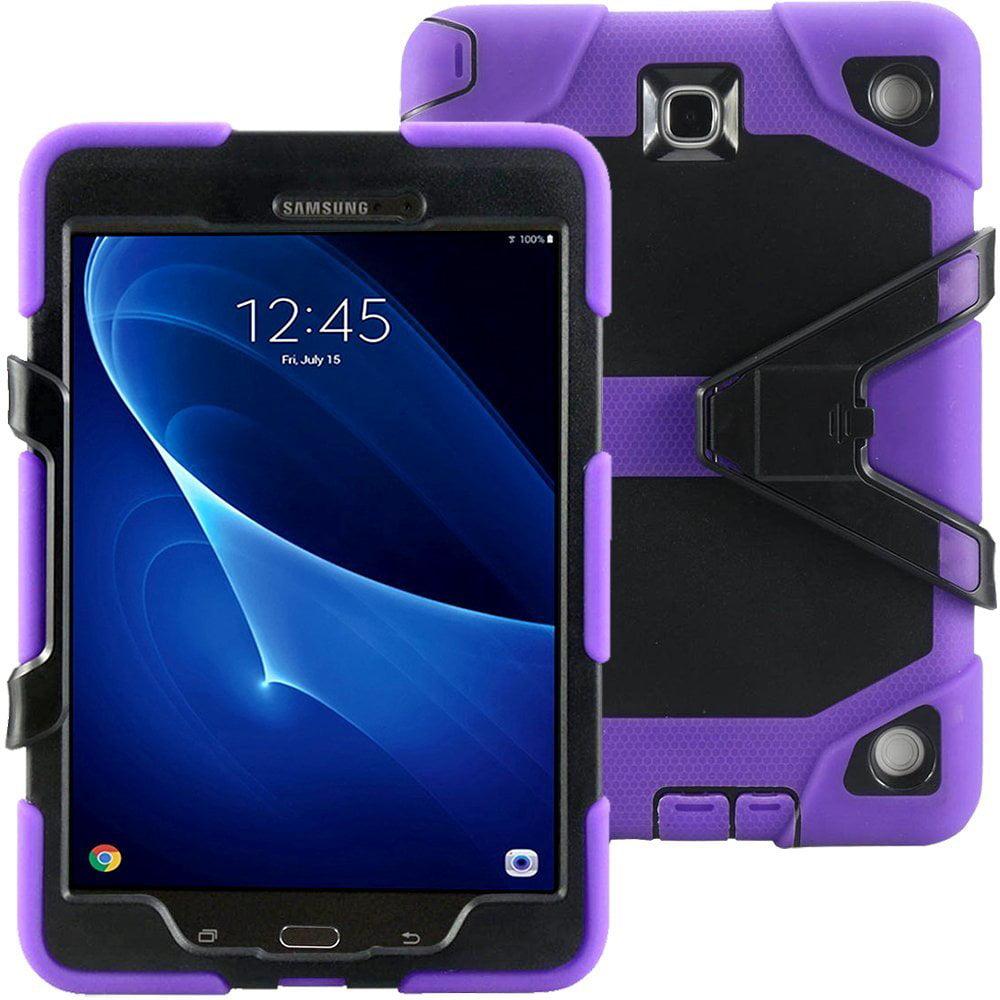 Rugged Armor Hybrid Case Cover By KIQ for Samsung Galaxy Tab A 9.7 SM-T550 (Black)