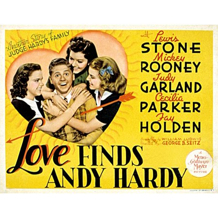 Love Finds Andy Hardy Judy Garland Mickey Rooney Ann Rutherford Lana Turner 1938 Movie Poster Masterprint