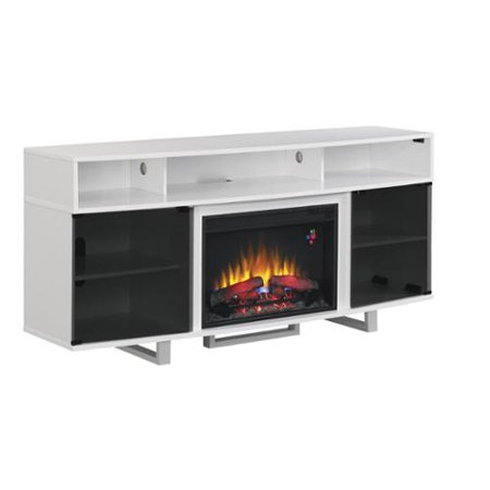 Twin Star International Enterprise 26 Inch Classic Flame Indoor Fireplace Media Mantel In Glossy