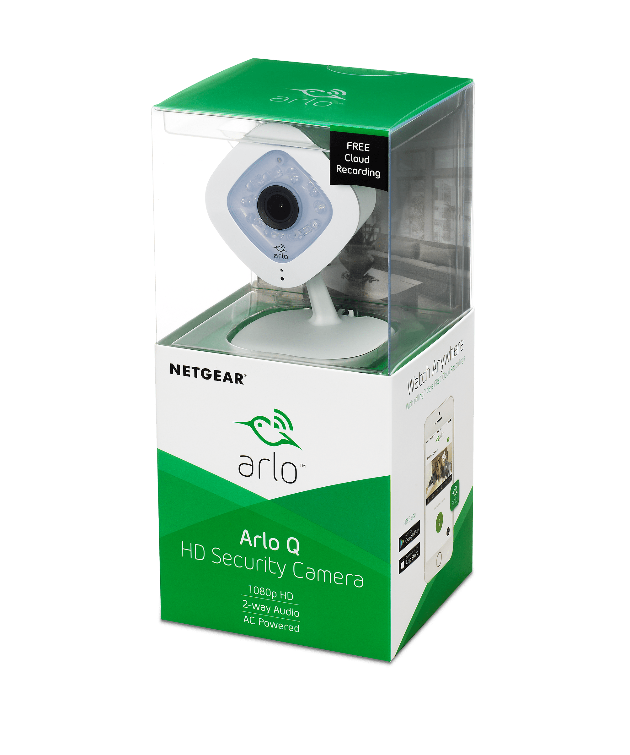 Arlo Q 1080p HD Security Camera, 2-way audio, Indoor only, No base station  required (VMC3040)
