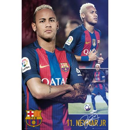 Fc Barcelona   Soccer Poster   Print  Neymar Jr    Collage   Size  24   X 36