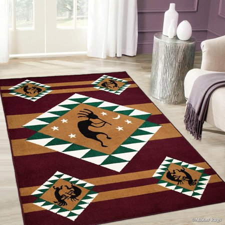 Allstar Burgundy Woven High Quality Rug. Traditional. Persian. Flower. Western. Design Area Rug (3