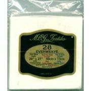 """M C G Textiles 28200-28270 Evenweave Fabric 28 Count 20""""X27"""" - Antique White"""