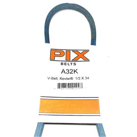 A32K/4L340K Pix Kevlar Belt Compatible With TORO 1572, 26-3540, 271-56 (1/2X34