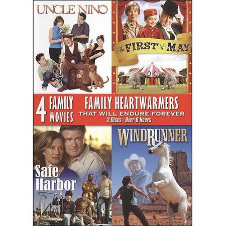 4 Family Movies: Family Heartwarmers - Uncle Nino / The First Of May / Safe Harbor / Windrunner