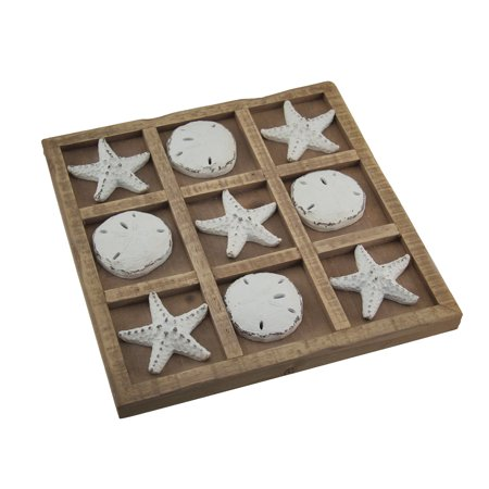 3.5 Inch Game - Starfish and Seashells 9 inch Tic Tac Toe Game Board