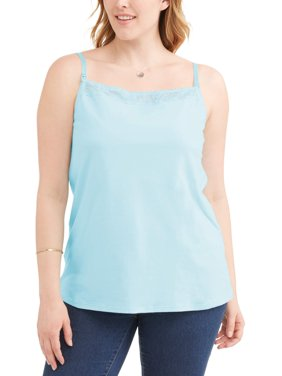 Maternity Wynette by Valmont Nursing Cami with Lace Trim, Style 91115 - Available in Plus Sizes