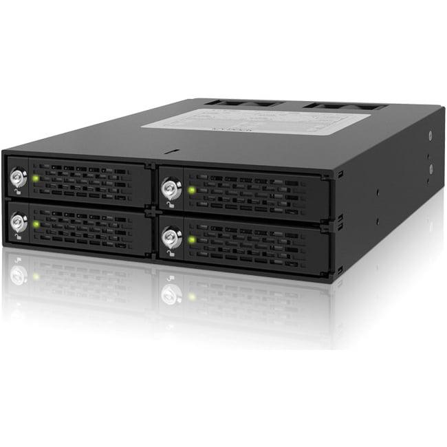 Icy Dock ToughArmor 4 Bay 2.5 SATA/SAS HDD/SDD Backplane Cage w/ Locking Trays