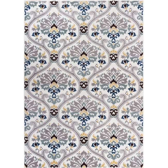Well Woven Electro Darling Floral Geometric Area Runner Rug, Gold by Well Woven