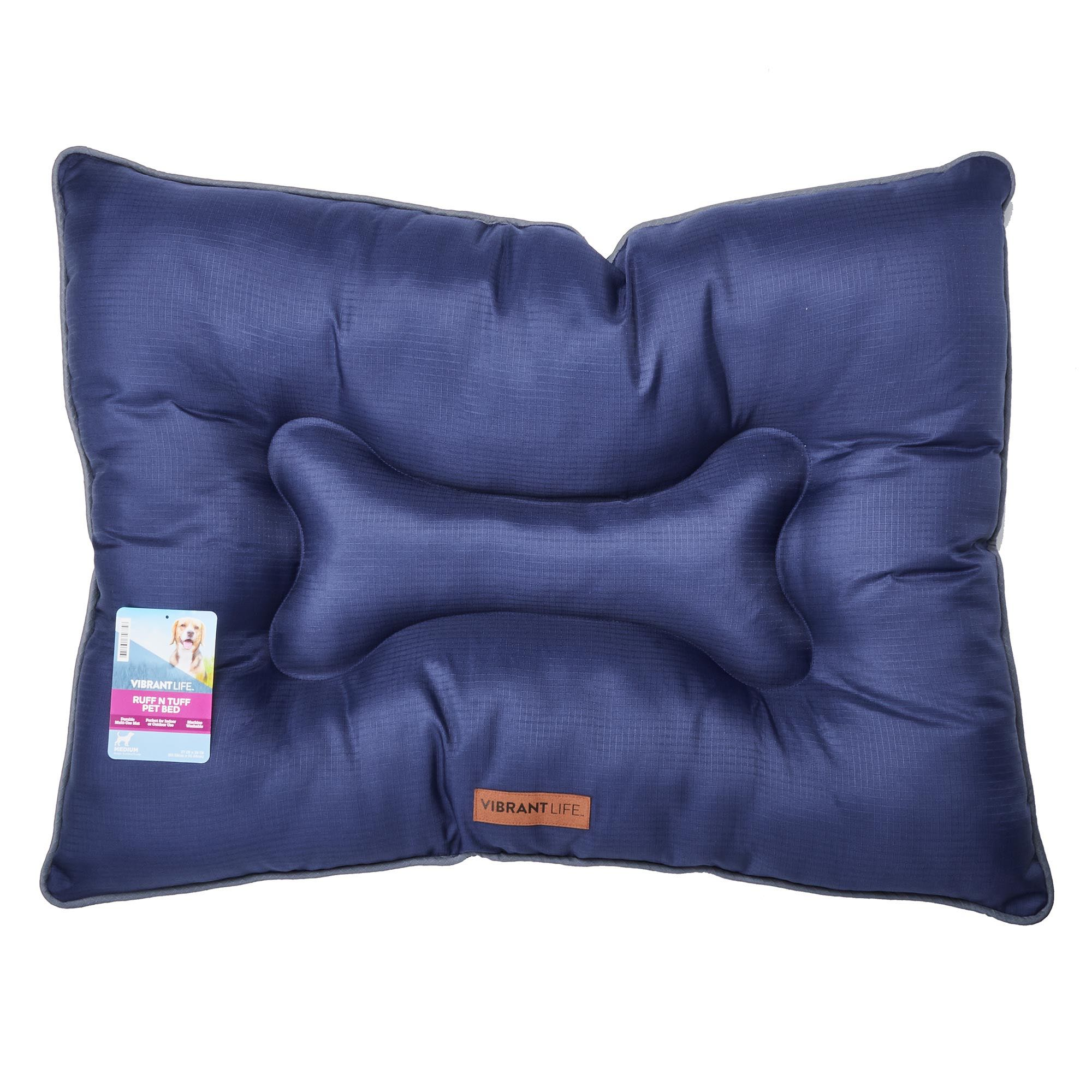 Vibrant Life 27 X 36 Ruff N Tuff Indoor Outdoor Durable Pet Bed Medium Navy Walmart Com Walmart Com