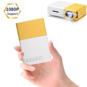 Projector, EEEkit Mini LED Pico Projector Support 1080p, Pocket Video Projector Support HDMI Smartphone PC Laptop USB for Movie Games, A Good Choice for Kid's Gift