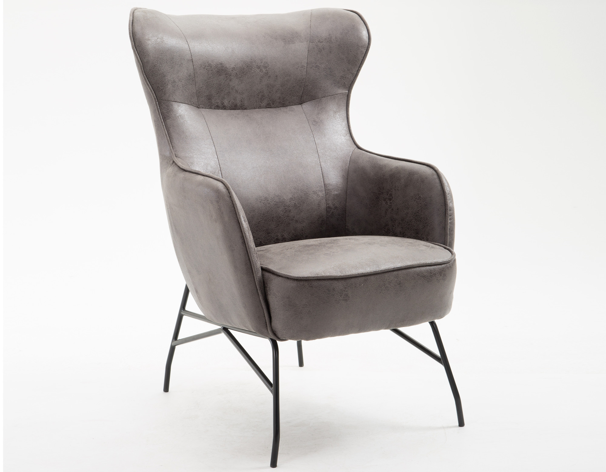 Emerald Home Franky Badlands Saddle and Black Accent Chair with Faux Leather Upholstery And Metal Base - Walmart.com & Emerald Home Franky Badlands Saddle and Black Accent Chair with Faux ...